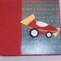 6x6 PreMade Chipboard Boy Scrapbook Photo Album