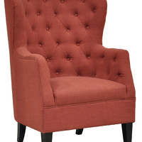 Cafer Club Chair - Rust - Living Room - By the Room - Paul Michael Company