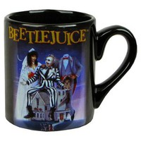 Beetlejuice Movie Poster Coffee Mug - Blue