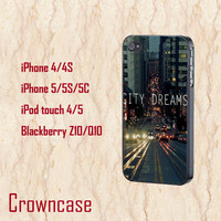 iphone 5s case,iphone 5c case,ipod 5 case,ipod 4 case,iphone 5 case,iphone 4 case,z10 case,q10 case--city dreams,in plastic,silicone.