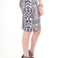 Tribal Stretch Skirt - Women's Clothing and Fashion Accessories | Bohme Boutique