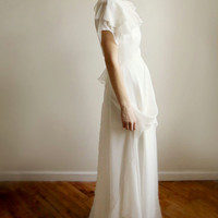 Hazelle - silk chiffon gown - one of a kind--SAMPLE SALE