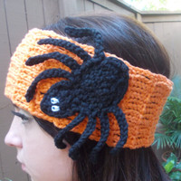 Halloween Headband - Spiderweb Headband - Spider Headband - Crochet Headband - Hair Accessories - Ready to Ship