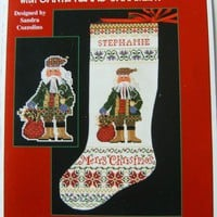 Christmas Stocking and Ornament Cross Stitch Chart | PurplePup - Craft Supplies on ArtFire