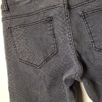 Gray Or Grey Snakeskin Print Skinny Jeans By Cello Jeans Size 9