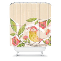 DENY Designs Home Accessories | Cori Dantini Little Bird On A Flowery Branch Shower Curtain