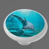 Dolphin Fantasy High Gloss Ceramic Drawer Knob