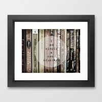 Book Drunkard Framed Art Print by Ally Coxon