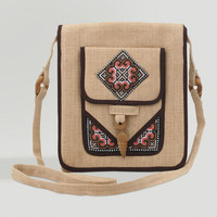 Novica Earth Miracle Hemp Shoulder Bag - World Market