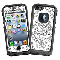 Dainty Black and White Damask Skin  for the iPhone 5 Lifeproof Case by skinzy.com