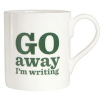 Go Away I m Writing Bone China Mug