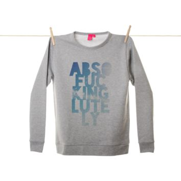 Quirky Illustrated Gifts   Absofuckinglutely Sweatshirt   Leah Flores   New   Brand New   Mens   Apparel   Womens   Ohh Deer