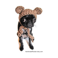 extra small pet costume CROCHET DOG HATS bear hat ewok star wars inspired pet costume custom cat photo props photography props