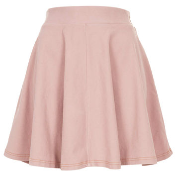 Pink Denim Look Skater Skirt - New In This Week - New In - Topshop USA