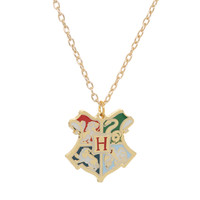 Harry Potter Hogwarts Crest Necklace | Hot Topic