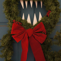 Nightmare Before Christmas Inspired Man Eating Wreath