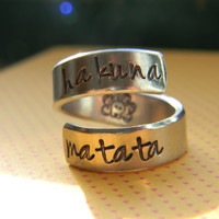 Hakuna Matata //lion he original  twist aluminum ring Version III special offer