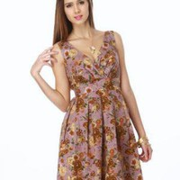 Charming Floral Dress - Lilac Dress - Purple Dress - $46.00