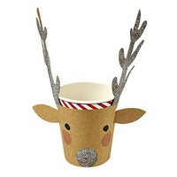Reindeer Party Cups Set Of 12