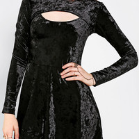 Urban Outfitters - Motel Clarrie Velvet Cutout Fit & Flare Dress