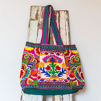 Folk Flower Tote Bag