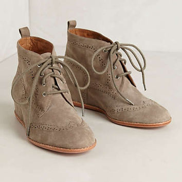 Anthropologie - Suede Hidden-Wedge Chukkas