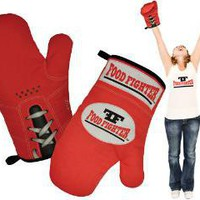FOOD FIGHTER OVEN MITT SET