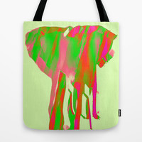 elephant love Tote Bag by Laura Santeler