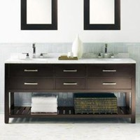Hutton Double Washstand Dark Espresso | Double Vanities & Washstands | Restoration Hardware
