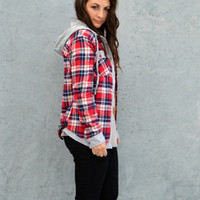 Plaid Hoodie   | Something Madison