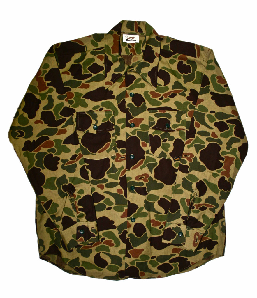 Vintage Duxbak Camouflage Button Up Shirt From Vintage