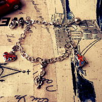 Union Jack Charm Bracelet  British / English Theme by BritHeart