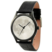 Moon Watch (White) in Black case