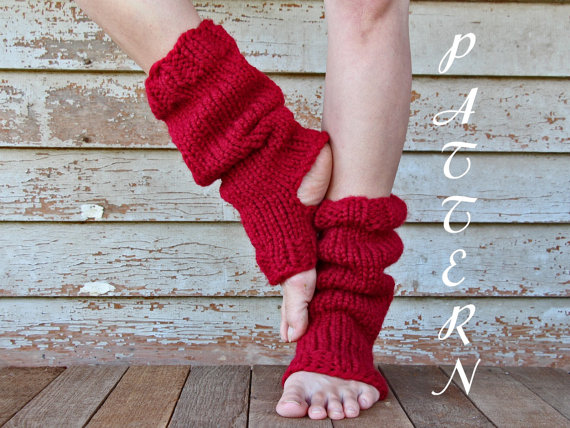 Knitting Pattern For Yoga Socks : Tall & Slouchy Knitted Yoga Sock PDF from knittedbyscw ...