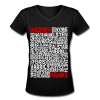 The Dragon Age Character Compendium Party Pack V-Neck T-Shirt | Spreadshirt | ID: 8291445