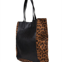 Colorblock Leather Tote Bag | 2020AVE