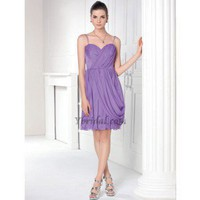 Gorgeous A-Line Spaghetti Mini-Length Chiffon Prom Dress SAL1022