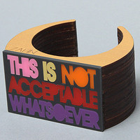 Karmaloop.com - Global Concrete Culture - The Not Acceptable Bangle by NEIVZ