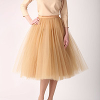 Tulle skirt, long petticoat, high quality tutu skirts, tulle tutu