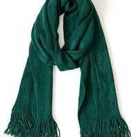 Timelessly Fashionable Scarf, Hunter Green