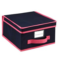 Storage Box - Medium - Navy/Fuchsia