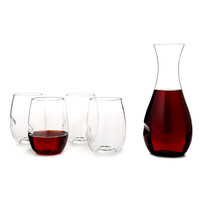 SHATTERPROOF WINE GLASSES AND CARAFE | Plastic Stemware | UncommonGoods