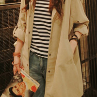 Women long trench coat/long jacket/long coat/women coat/women trench coat/women jacket/beige jacket/beige coat/women outerwear/woemn top