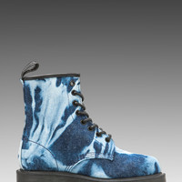Dr. Martens Castel 8-Eye Boot P DMQ in Blue from REVOLVEclothing.com