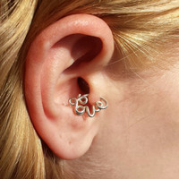 Love Hoop Cartilage Earring for Daith Rook Tragus Snug by wirewrap