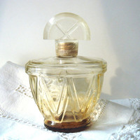 Vintage Perfume Glass Splash Bottle  by Charbert - 1930-40s
