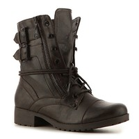 The G by Guess Bruze is sure to be a cruise! This tough looking combat boot will add just the right amount of spunk and edge to your look.