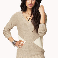Contrast Triangles Sweater