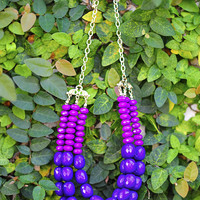 Oh So Lovely Necklace: Purple | Hope's