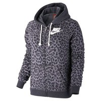 Nike Store. Nike Rally Full-Zip Cheetah Women's Hoodie